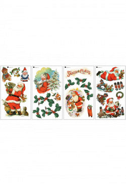 RoomMates Wandsticker Weihnachtsmann Santa Claus