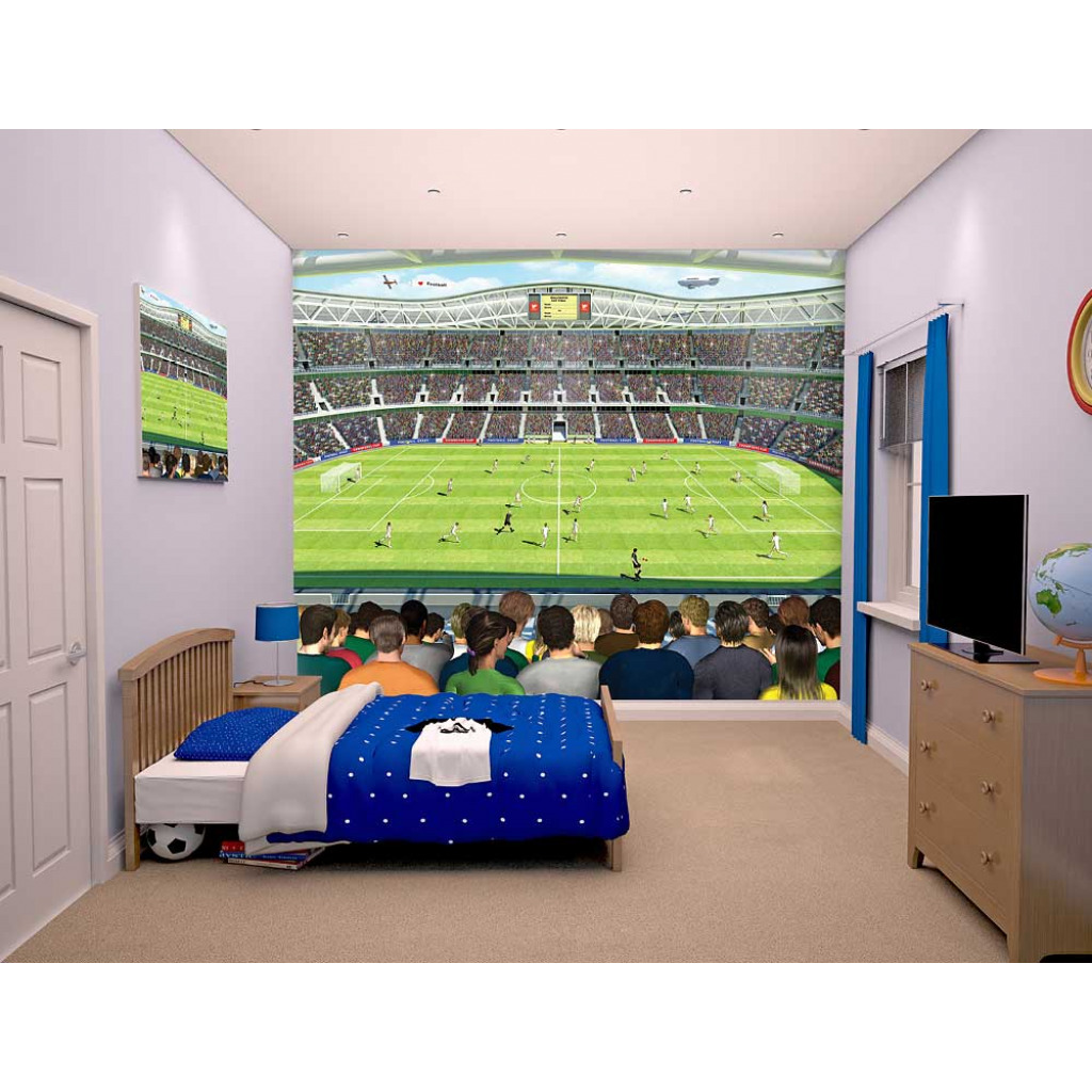 walltastic fototapete wandbild jungen fu ball stadion. Black Bedroom Furniture Sets. Home Design Ideas