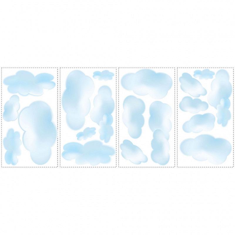 RoomMates Wandsticker Baby Wolken