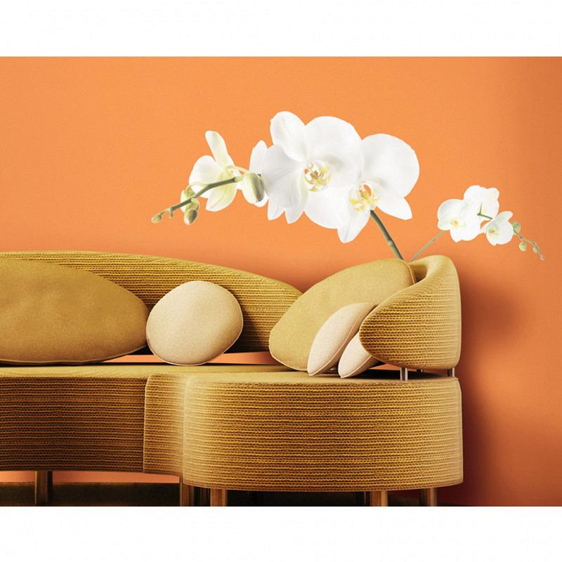 RoomMates Wandsticker Weiße Orchidee