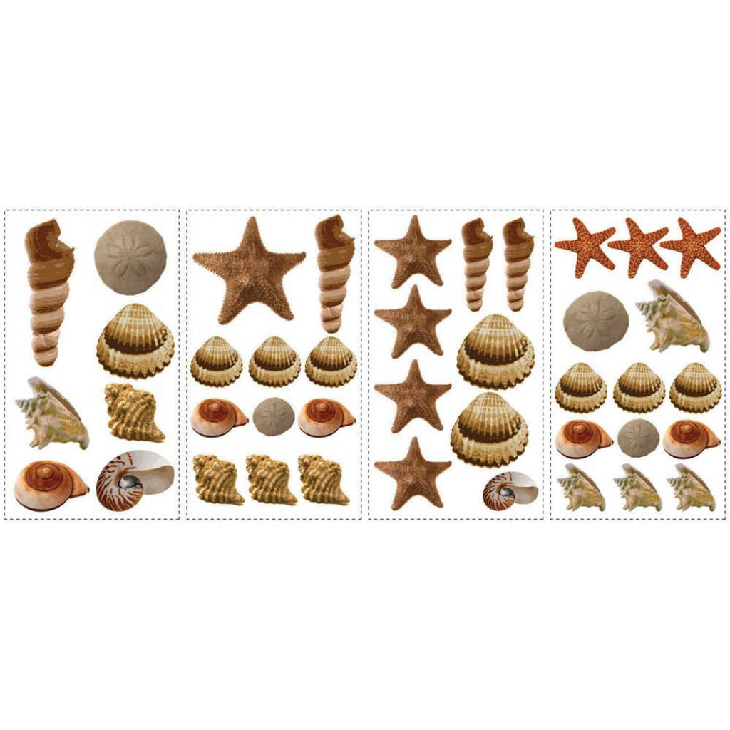 roommates wandsticker wandtattoo muscheln sea shells www. Black Bedroom Furniture Sets. Home Design Ideas
