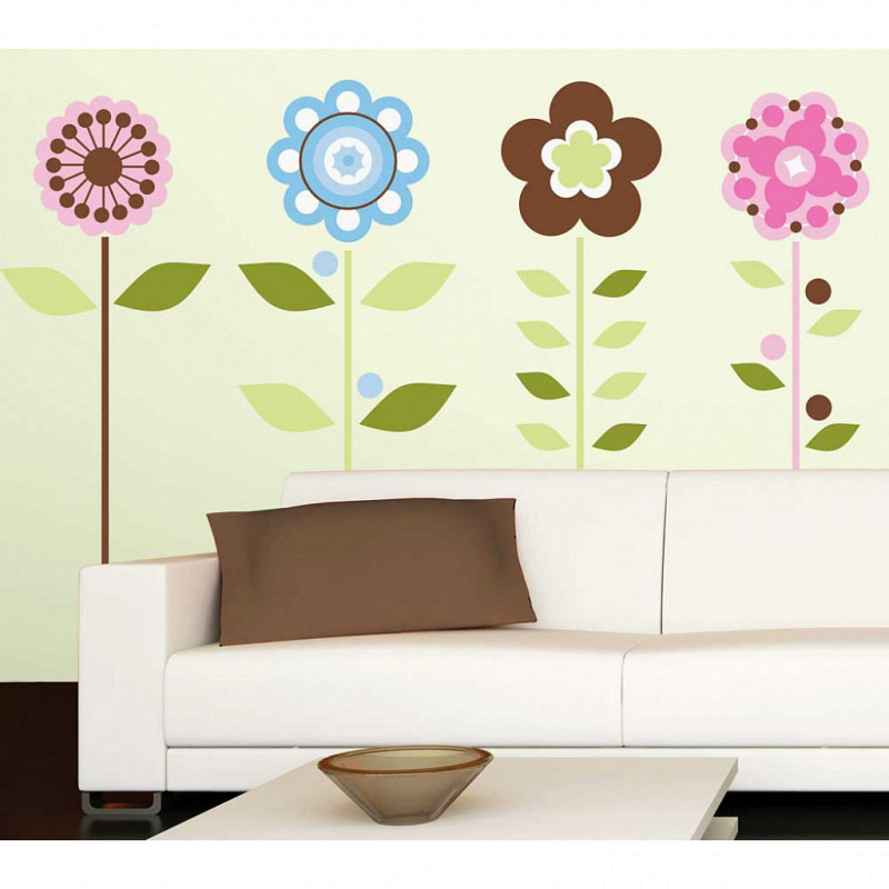 RoomMates Wandsticker Wandbild Blumen Blüten