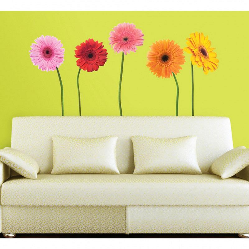 RoomMates Wandsticker Wandbild Gerbera Blumen XXL