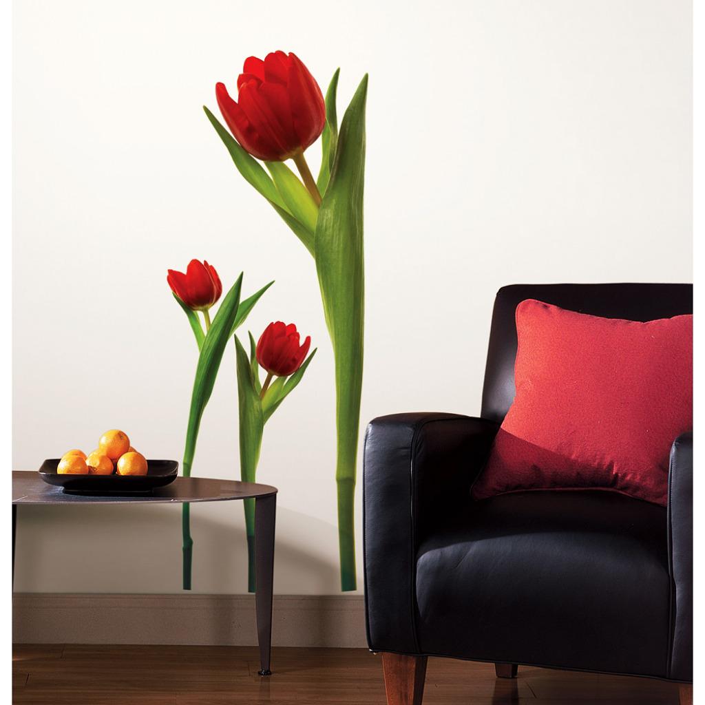 RoomMates Wandtattoo Wandsticker Tulpen Wohnzimmer