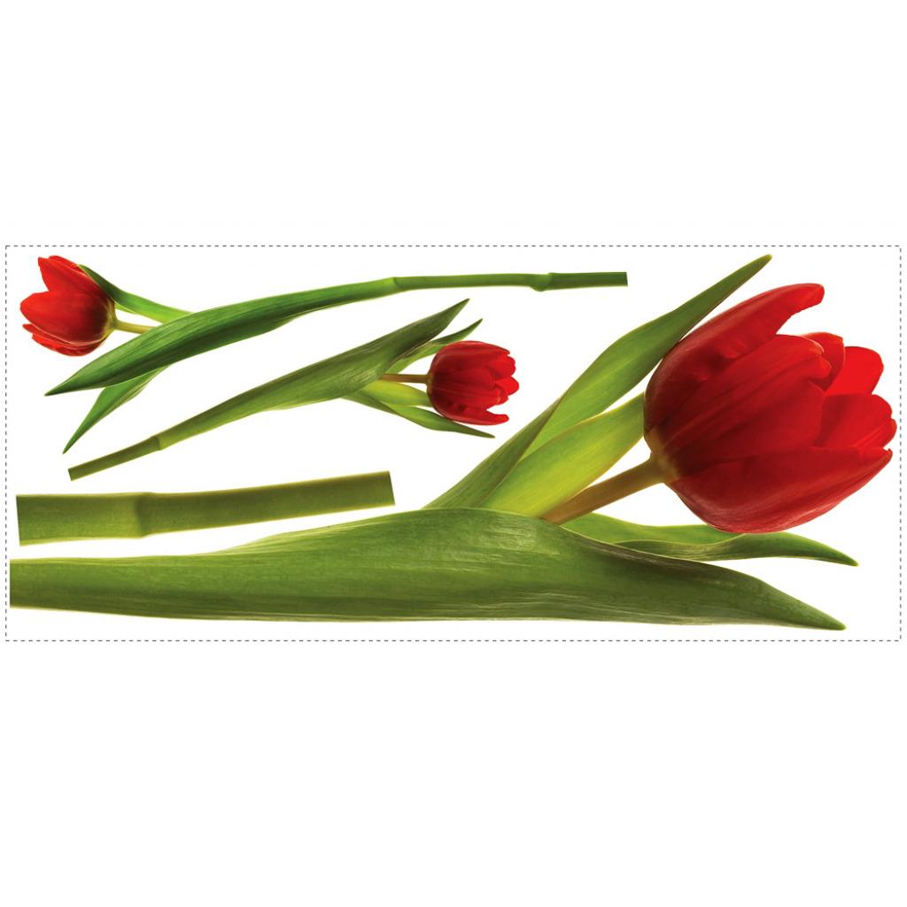 RoomMates Wandtattoo Wandsticker Tulpen
