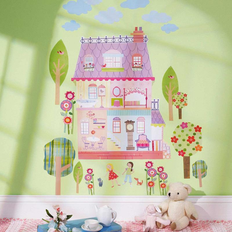 Wandsticker Wandaufkleber Spielhaus Puppenstube