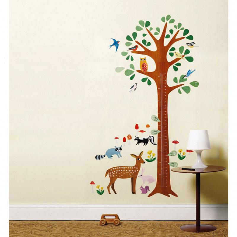 Wandsticker Messlatte Wachstumstabelle Baum