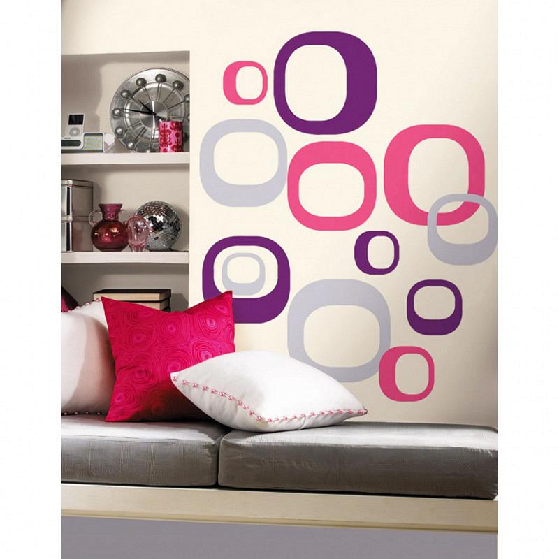 RoomMates Wandsticker Quadrate Retro Style