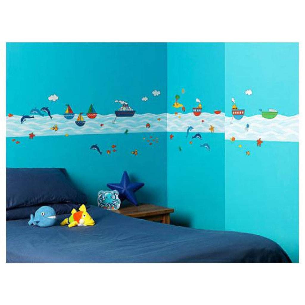 bord re und wandsticker komplettset fische unterwasserwelt kinderzimmer wanddeko ebay. Black Bedroom Furniture Sets. Home Design Ideas