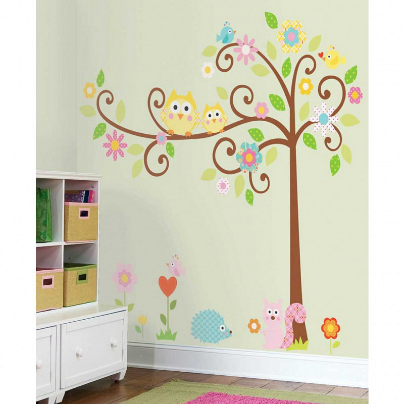 RoomMates Wunschbaum Wandsticker Scroll Tree