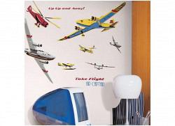 RoomMates Wandsticker Wandbild Flugzeuge