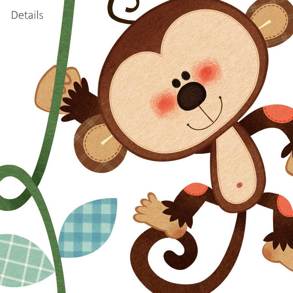 Wandsticker Messlatte Affen Details