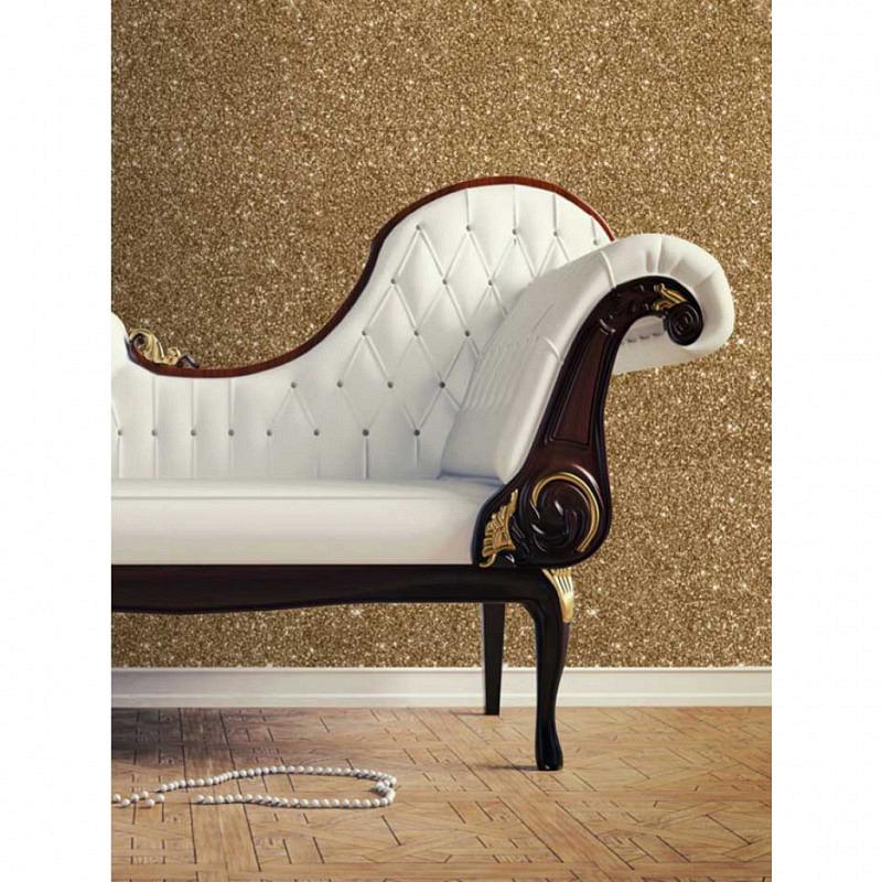 Tapete Gold Glitter Effekt