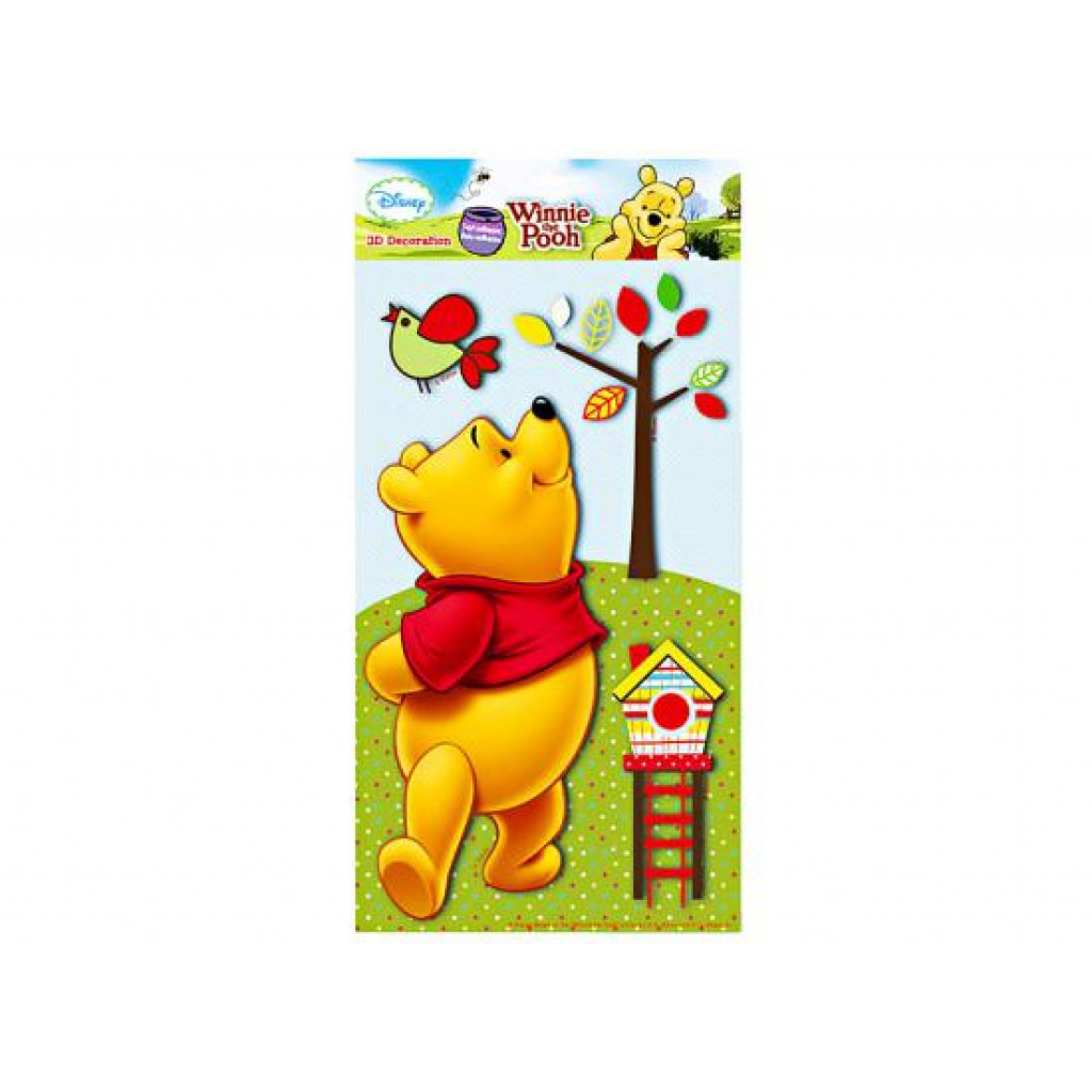 wandsticker 3d xl winnie the pooh winnie the pooh. Black Bedroom Furniture Sets. Home Design Ideas
