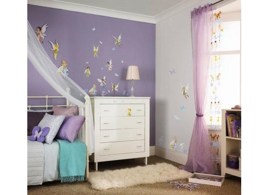 kinderzimmer wandsticker disney fairies tinkerbell ebay. Black Bedroom Furniture Sets. Home Design Ideas