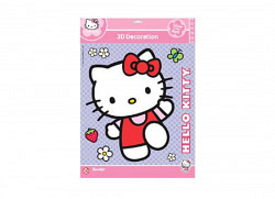Wandsticker in 3D Hello Kitty leuchtend im Dunke..