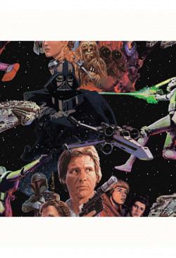 Tapete Star Wars Han Solo Leia
