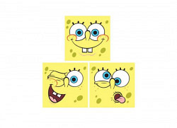 Kinderzimmer Wandsticker Spongebob Quadrate