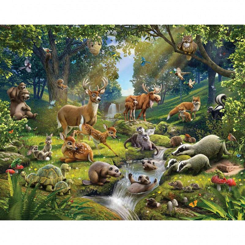 Fototapete Kinderzimmer Tiere des Waldes