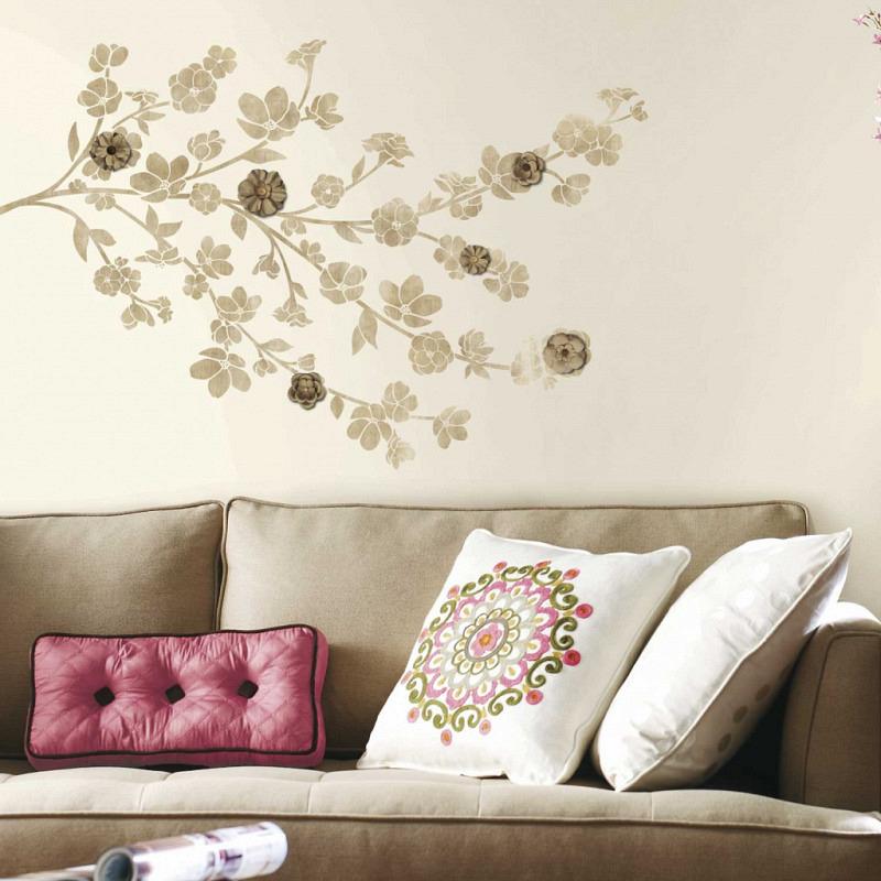 RoomMates Wandsticker floraler Blütenzweig 3D