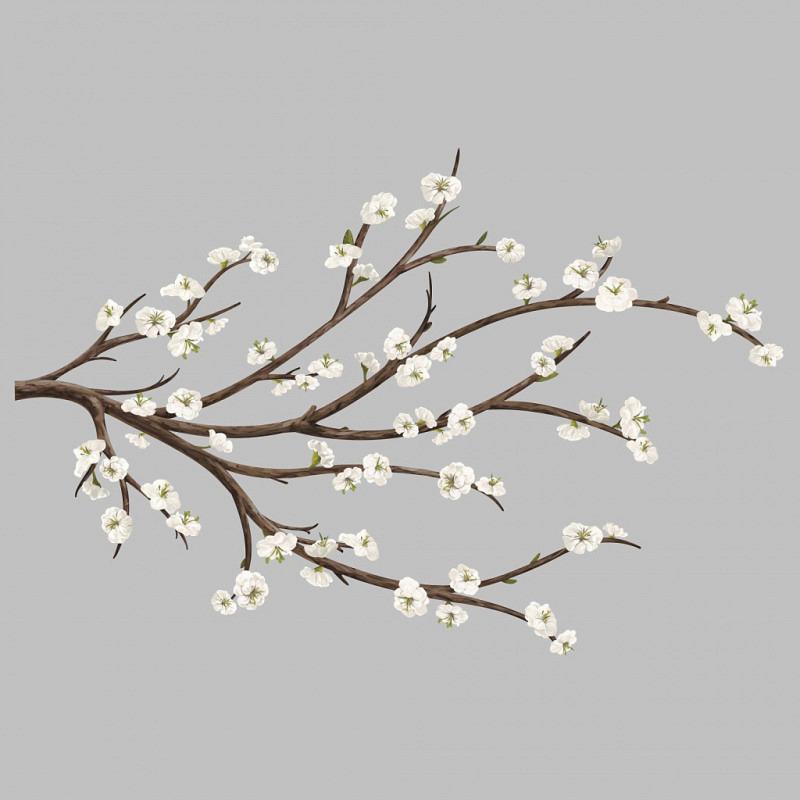 RoomMates Wandsticker weißer Blütenzweig 3D