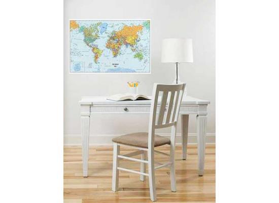 wandbild weltkarte selbstklebend mit marker und radierer www 4. Black Bedroom Furniture Sets. Home Design Ideas