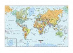 Wandbild-Weltkarte mit Marker und Radierer