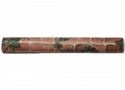 Tapete selbstklebend Efeuranken rote Steinmauer