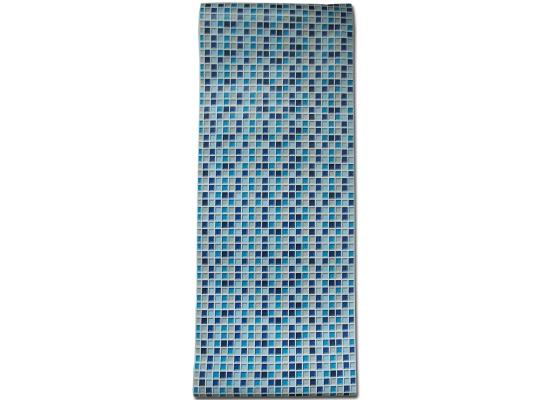 Selbstklebende Fliesen Tapete : Ein marineblaues Fliesen Mosaik mit modernem Keramik Charakter f?r