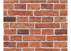 Tapete roter Mauerstein