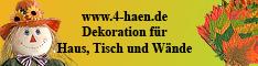 www.4-haen.de-Herbstdekoration für Haus Tisch und Wände