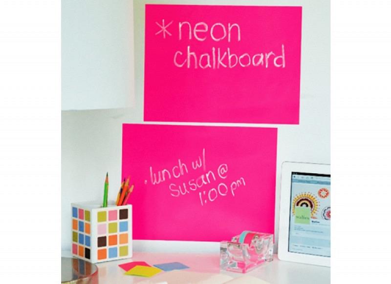 Kreidetafel Wandsticker Neon Pink 2 Blatt