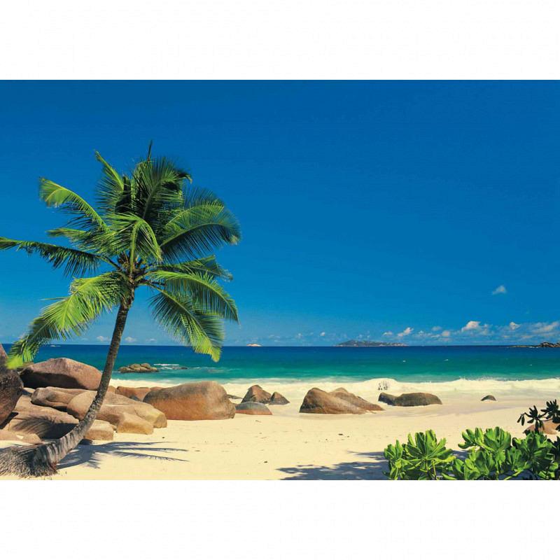 Fototapete Traumstrand Seychellen