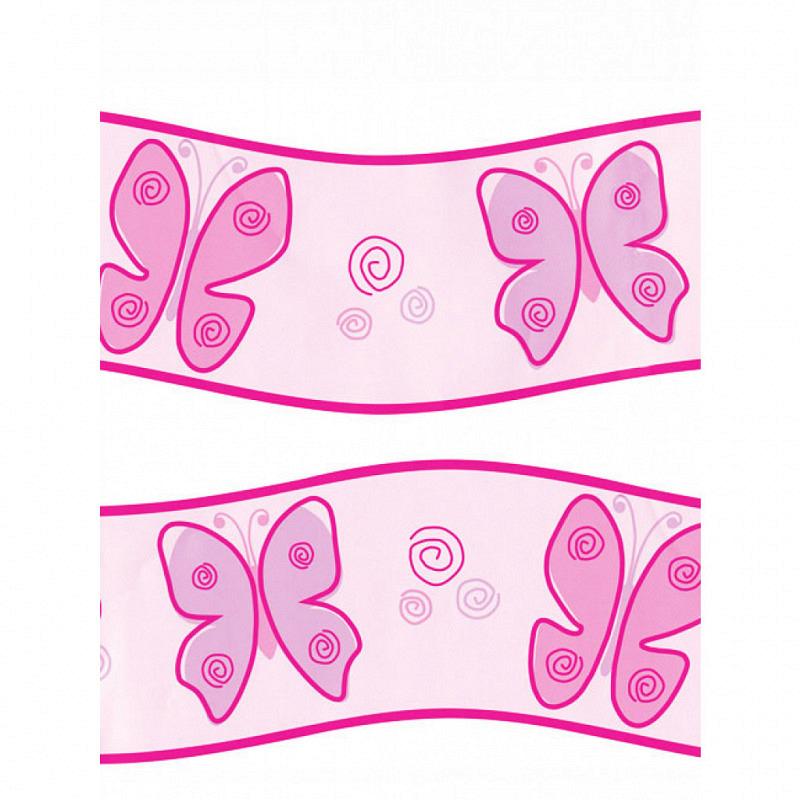 Schmetterlinge Tapeten Bordüre pink
