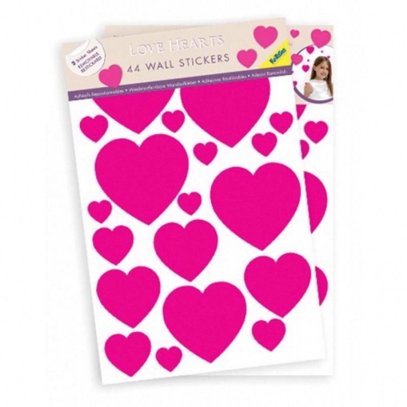FunToSee Wall Art Sticker Rote Herzen