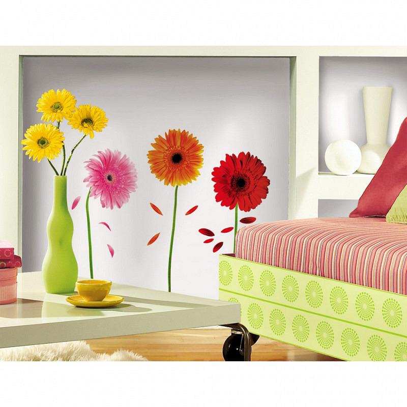 RoomMates Wandsticker Gerbera Blüten