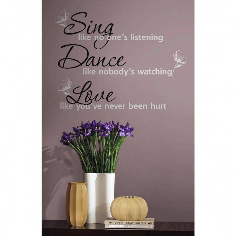RoomMates Wandtattoo Wandsticker Sing Dance Love