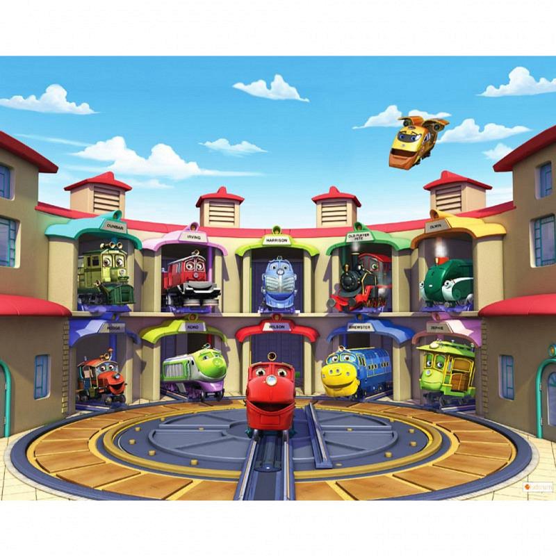 Fototapete Kinderzimmer Chuggington Eisenbahn Zug