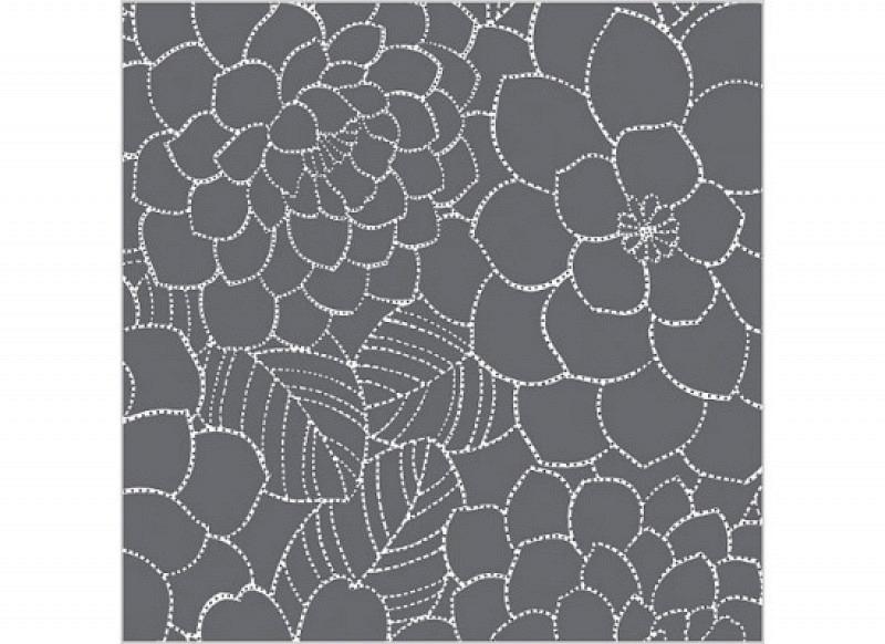 Fensterfolie selbstklebend Blumen Frosteffekt