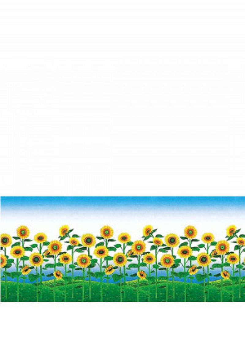 Fensterfolie selbstklebend Sonnenblumenfeld Frosteffekt