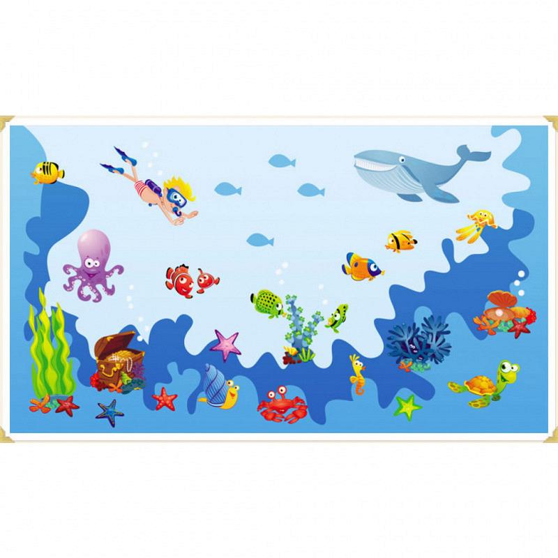Wandsticker Unterwasser Fische