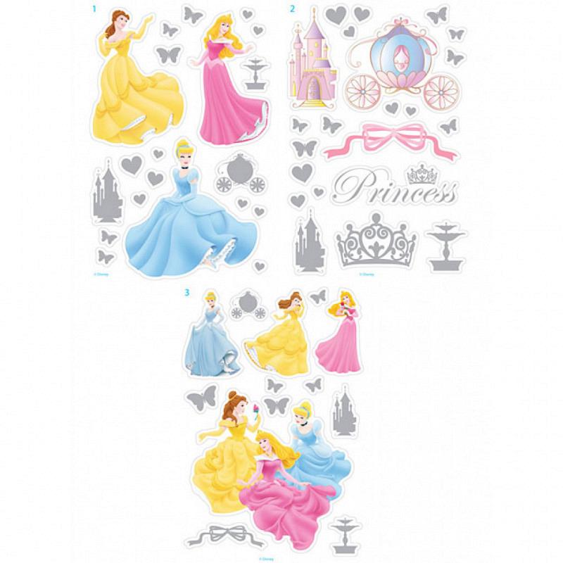 Wandsticker Disney Princess Metallic