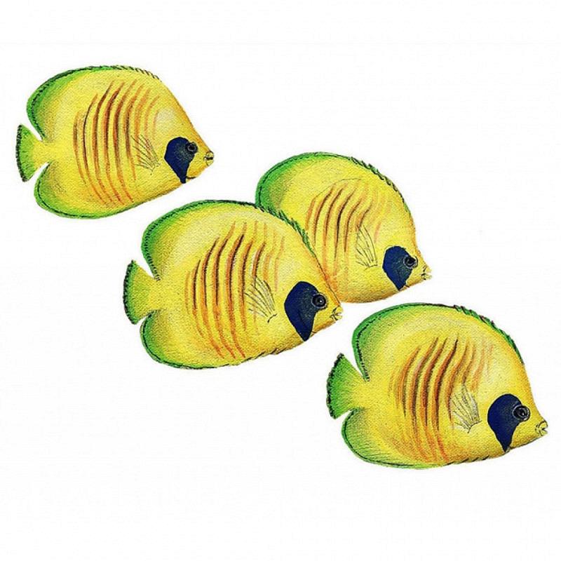 Wandsticker Wandtattoo Falterfische