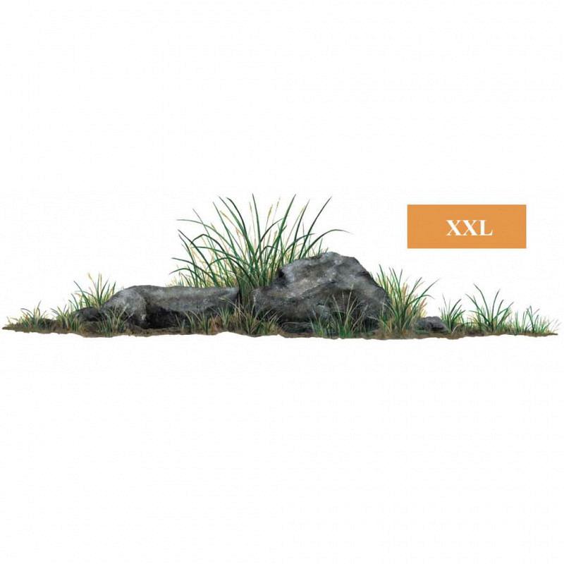 Wandsticker Dschungel Pflanze Gras und Steine
