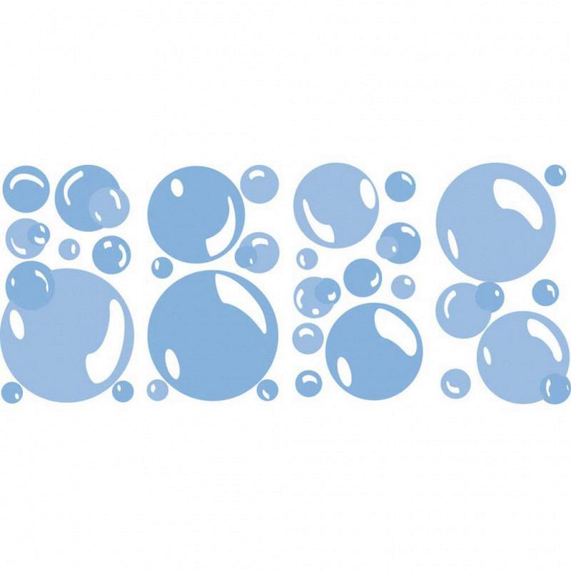 RoomMates Wandsticker Wandaufkleber Seifenblasen Bubbles