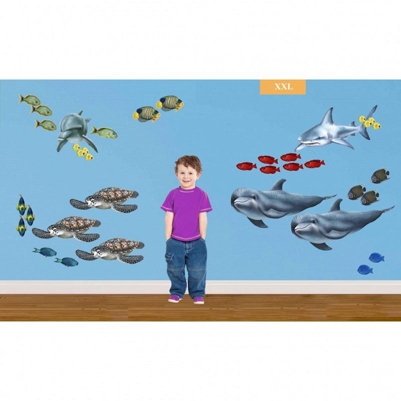 Wandsticker Unterwasserwelt Komplettset