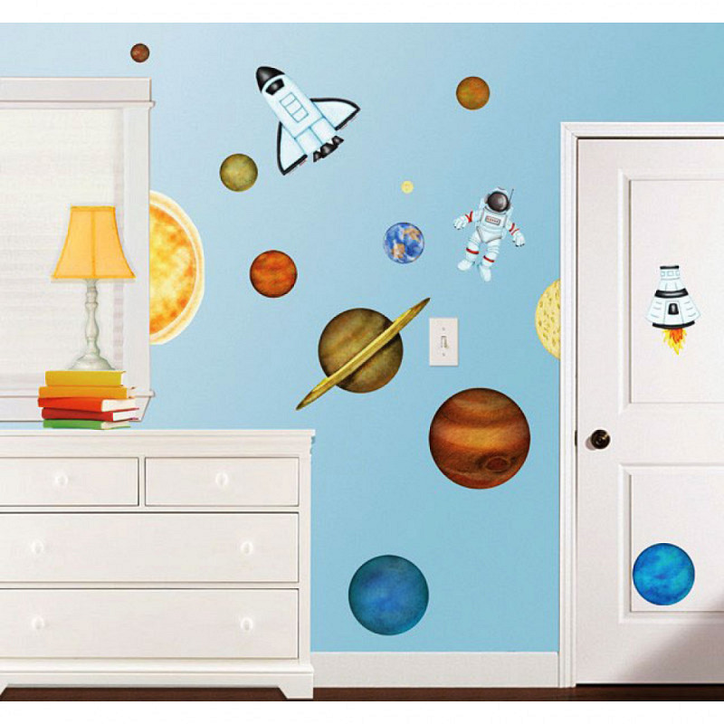 Borders Unlimited Wandsticker Weltall Planeten