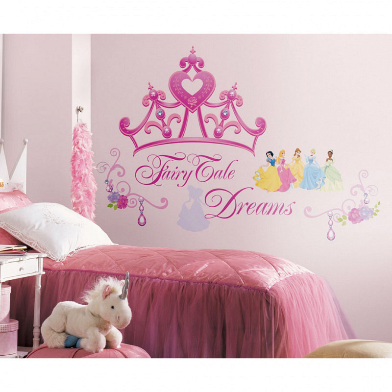 RoomMates Wandsticker Disney Princess Krone Fairy