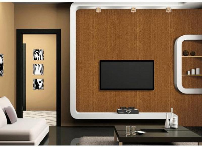 Tapete selbstklebend Möbelfolie rotbraunes Holz