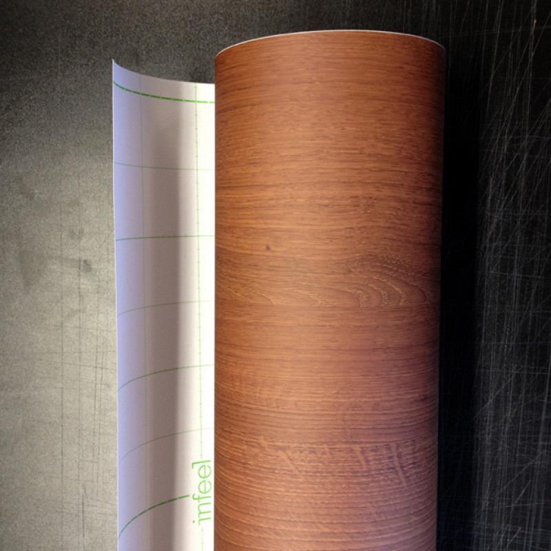 Tapete selbstklebend Möbelfolie Holz-Optik mahagoni